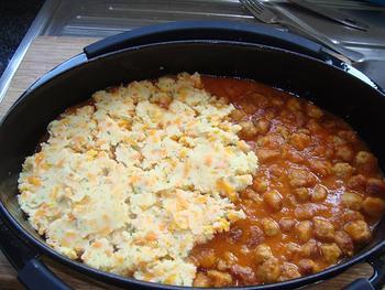 Gehakt parmentier met wortelen en tomatensaus 6