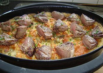 Gnocchi met groene groenten en kruidenkaas in de oven 2