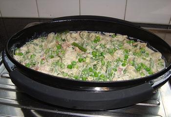 Gnocchi met groene groenten en kruidenkaas in de oven 8