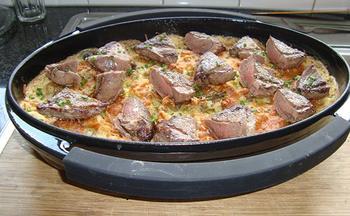 Gnocchi met groene groenten en kruidenkaas in de oven 9