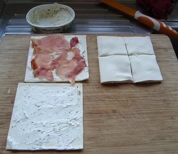 Hapje: hartige wafeltjes met kruidenkaas en ham of zalm 3