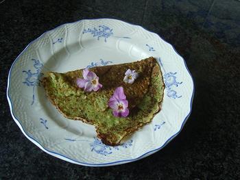 Lente of hartige pannenkoeken met kruiden 2