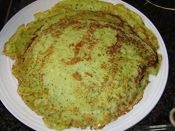 Lente of hartige pannenkoeken met kruiden 5