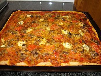 Pizza met oesterzwammen 2