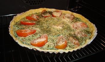 Quiche met spinazie, ricotta en zalm 4