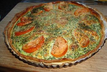 Quiche met spinazie, ricotta en zalm 5