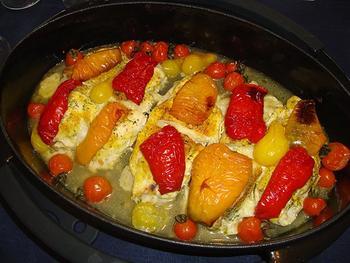 Saltimbocca van kip met kaas en paprika 9