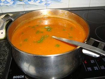 Tomatensoep met balletjes en vermicelli 7