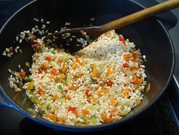 Varkenswangen met risotto en groentjes 6