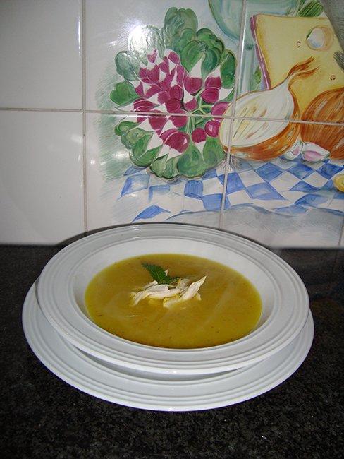 Appelsoep met kerrie en kippenreepjes 1