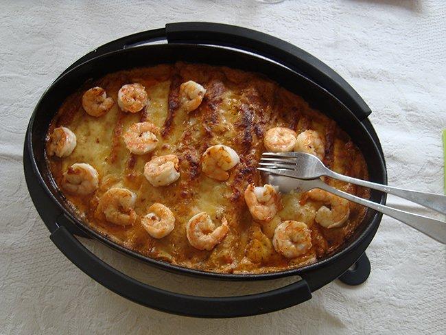 Cannelloni gevuld met garnalen en champignons 1