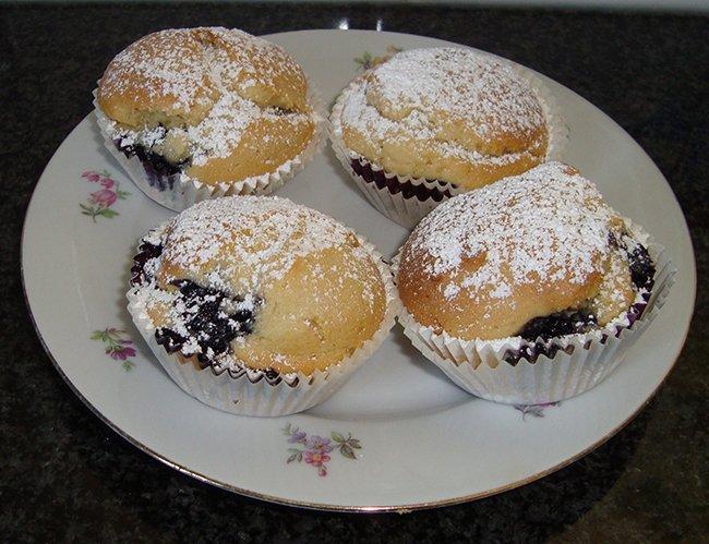 Cupcakes met blauwe bessen 1