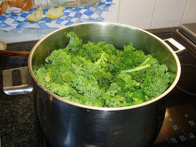 Krulkool, kale of boerenkool diepvriezen 1