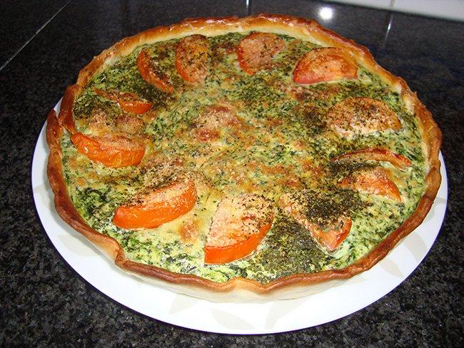 Quiche met spinazie, ricotta en zalm 1
