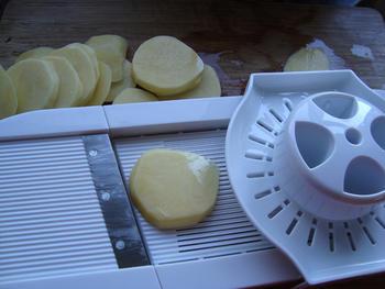 Aardappel-knolseldergratin met spek 2