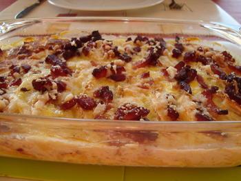 Aardappel-knolseldergratin met spek 7