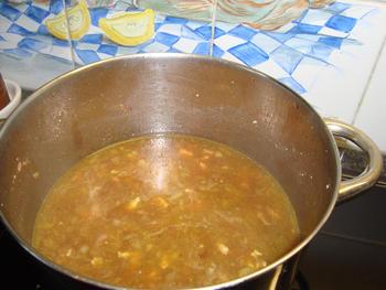 Andijviestamppot met spekjes- of krepkes- of kaantjessaus en gebakken zalm 3