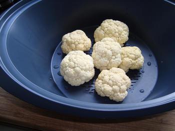Bloemkool met melksaus of kaassaus en aardappelen in de thermomix 2