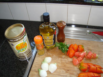Bloemkool met paprika en kipfilet met currysaus in de thermomix 7