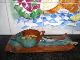 Borrelglaasje met grijze garnalen 7