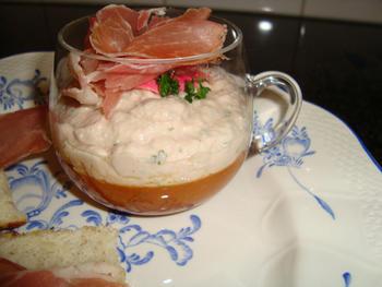 Borrelglaasje met ham in de thermomix 5