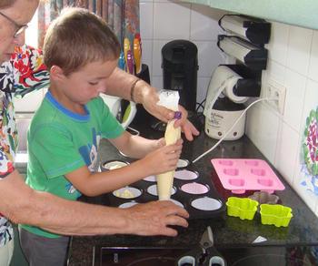 Een deeg, drie soorten cupcakes 3
