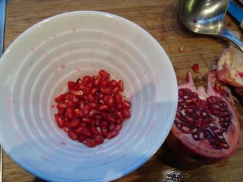 Jacqueline's garnalenhapje met granaatappelpitten 2