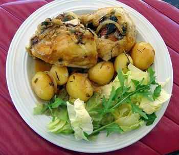 Kip in de oven met aardappelen 9