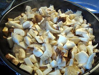 Kippenstoofpotje met paddenstoelen 4