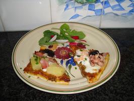 Pizza met zeevruchten 6