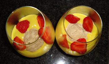 Sabayone met ijs en aardbeien in de thermomix 2
