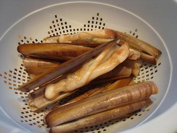 Scheermessen en mosselen met pasta: tagliolini 2