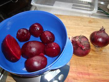 Stamppot van aardappelen, rode bieten en rode uien 3