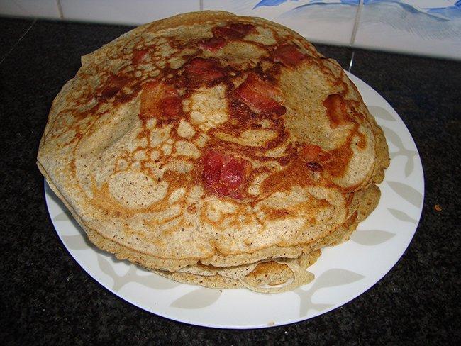 Boekweit pannenkoeken met spek 1