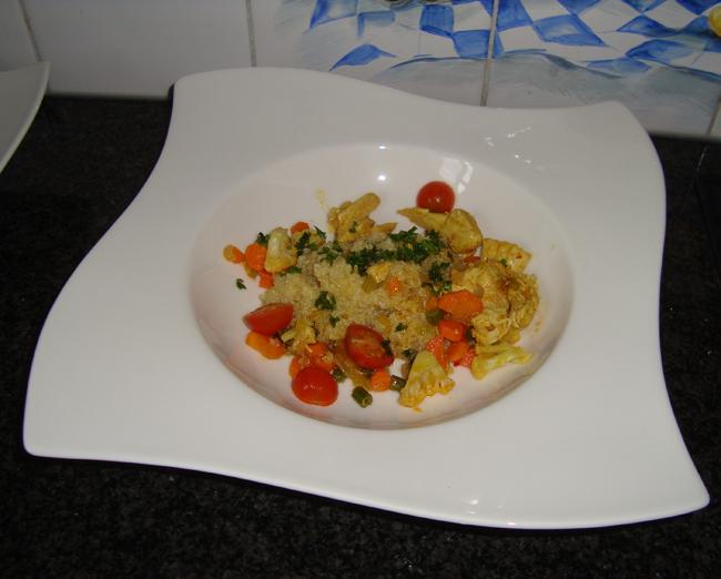 Gebakken kippenblokjes met quinoa 1