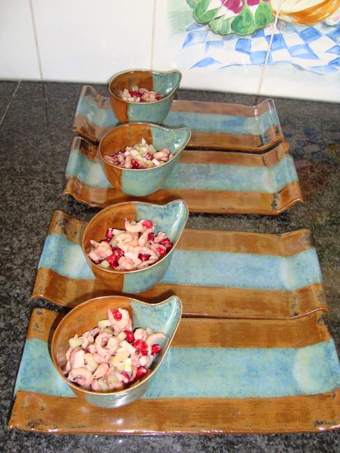 Jacqueline's garnalenhapje met granaatappelpitten 1