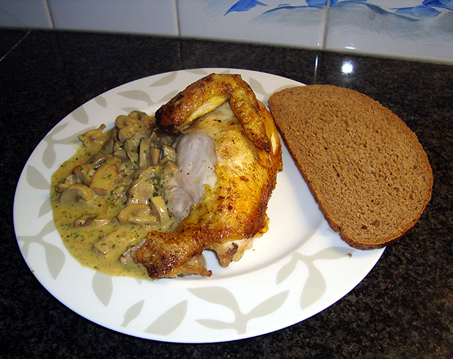 Kip Ambassadeur of kip met champignonroomsaus 1