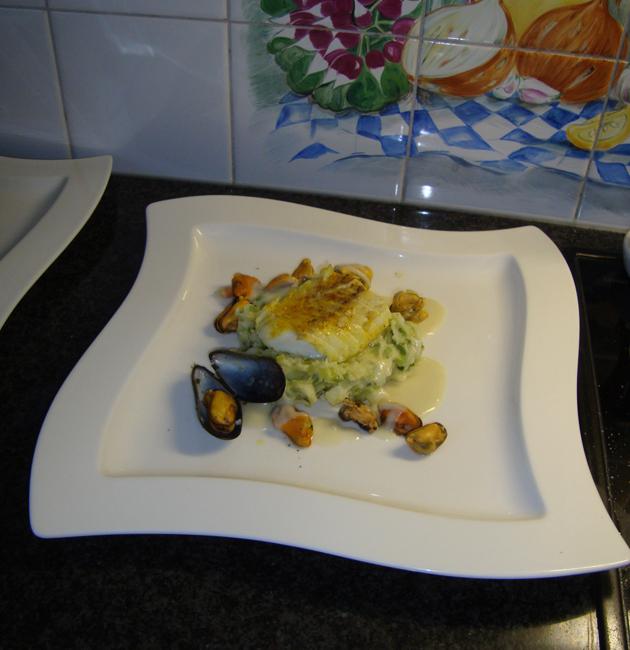 Preipuree met vis en mosselsaus 1