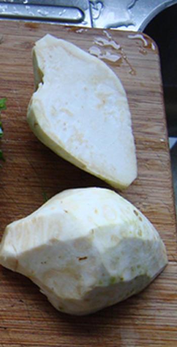 Aardappel- knolselderroomsoep 2