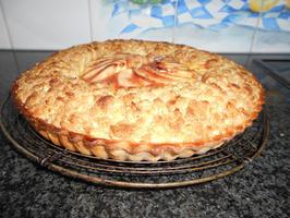 Appelschijfjesvlaai met pudding en rand van crumble 10