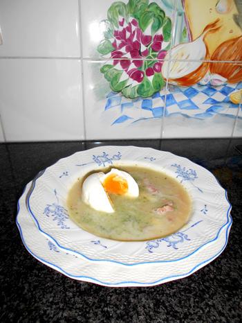 Aspergesoep à la Flamande met ei en garnalen 2