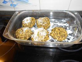 Falafel van linzen en pompoen met stamppot en uiensaus 6
