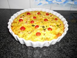 Frittata met asperges, paprika, aardappelen en feta 4