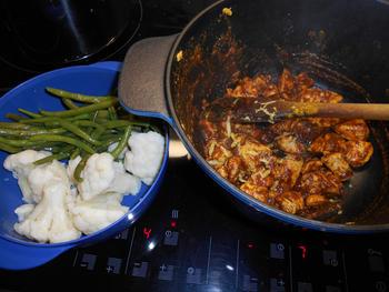 Kip met currypasta, bloemkool en prinsesboontjes 3