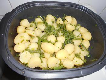 Koude aardappelsla met prinsesboontjes 3