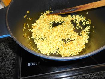 Lamsgehaktballetjes, rijst en paprikasaus met sinaasappel 4