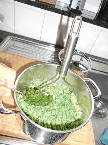 Lamskroontje met peterseliekorst en boerenkoolstamppot 5