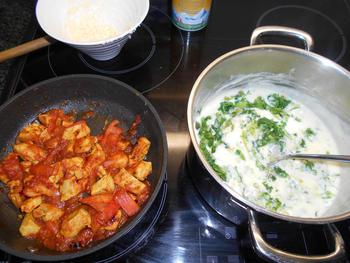 Lasagne met andijvie en kipfilet 6