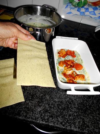 Lasagne met andijvie en kipfilet 7