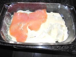 Lasagne met gerookte zalm en spinazie met ricotta 4